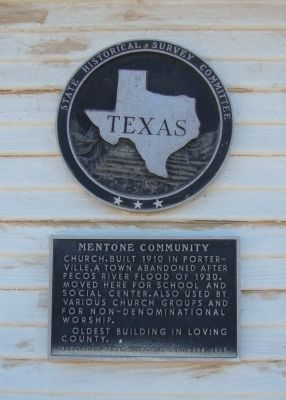 Mentone Community Church Marker image. Click for full size.