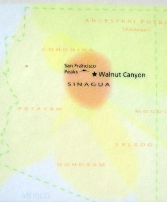 Map on Cliff Homes and Canyon Life Marker image. Click for full size.