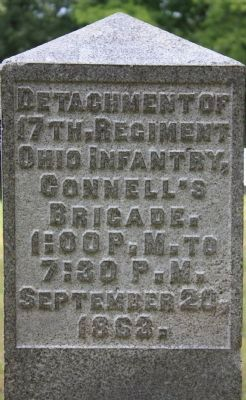 17th Ohio Infantry Marker image. Click for full size.
