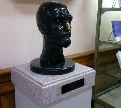 Juan Ramón Jiménez - bust on display in the foyer of Jiménez Hall, University of MD image. Click for full size.