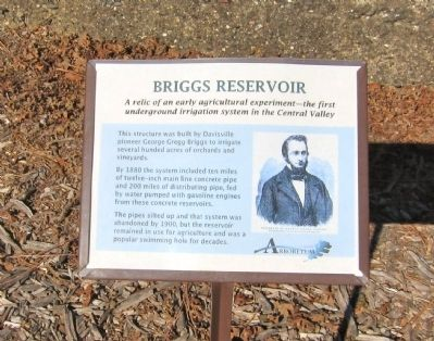 Briggs Reservoir Marker image. Click for full size.