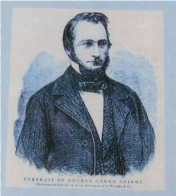 <i>Portrait of George Gregg Briggs</i> - closeup of engraving on marker image. Click for full size.