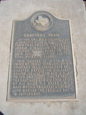 Shafter's Trail Marker image. Click for full size.