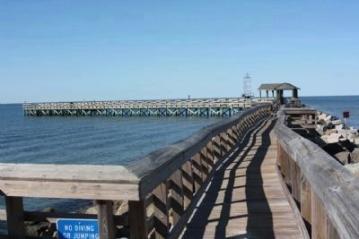 Present day Fishing pier atop the jetty image. Click for full size.