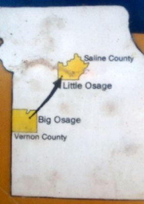 Map Showing Movement of Little Osage image. Click for full size.