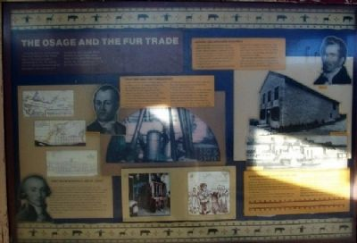 The Osage and the Fur Trade Marker image. Click for full size.