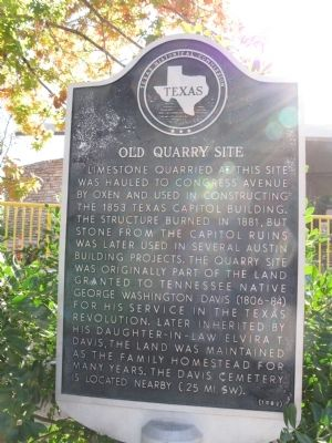 Old Quarry Site Marker image. Click for full size.