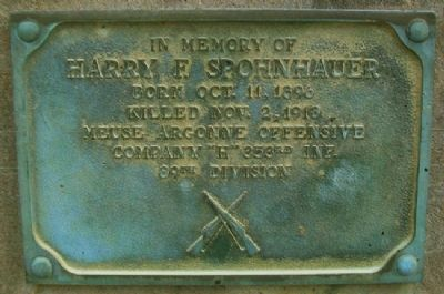 Harry F. Spohnhauer Marker Photo, Click for full size