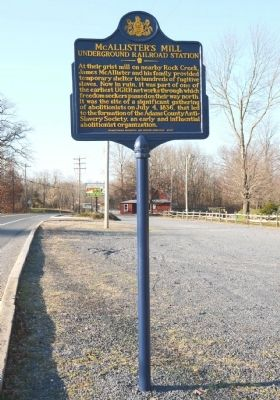 McAllister's Mill Marker Photo, Click for full size