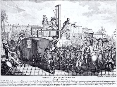 The execution of Louis XVI image. Click for full size.