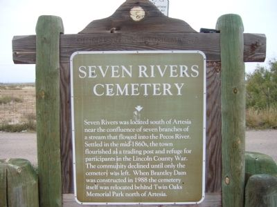 Seven Rivers Cemetery Marker image. Click for full size.