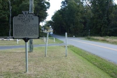 Peter Jacob Carter Marker, eastbound Bayside Road image. Click for full size.