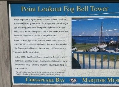 Point Lookout Fog Bell Tower Marker image. Click for full size.
