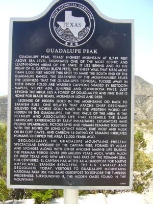 Guadalupe Peak Marker image. Click for full size.