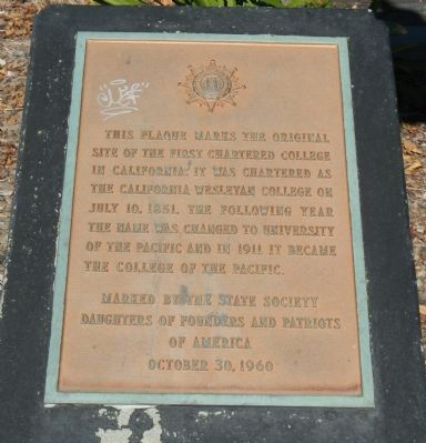California Wesleyan College Marker image. Click for full size.
