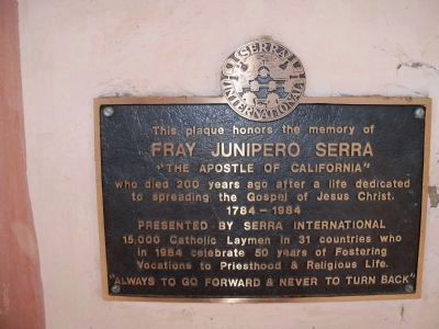 Serra International Plaque image. Click for full size.