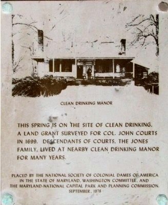 Clean Drinking Manor Marker image. Click for full size.
