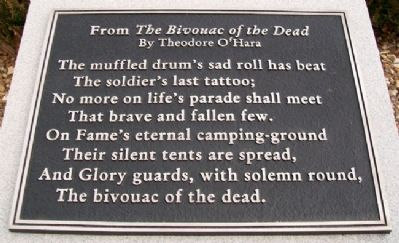 Fort Scott National Cemetery <i>The Bivouac of the Dead</i> Marker image. Click for full size.