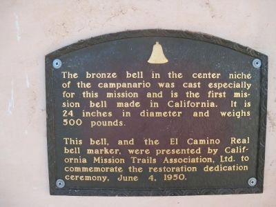Mission Bell Plaque image. Click for full size.