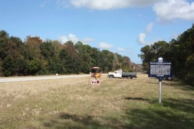 William Bartram's Plantation Marker, looking east along Florida State Road 16 image. Click for full size.