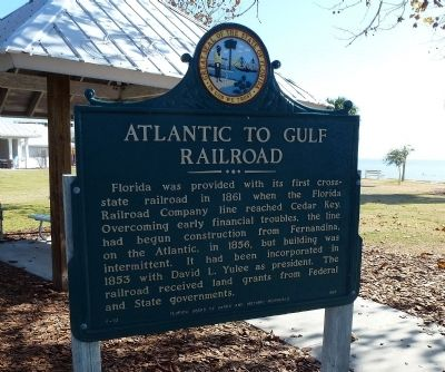 Atlantic to Gulf Railroad Marker image. Click for full size.