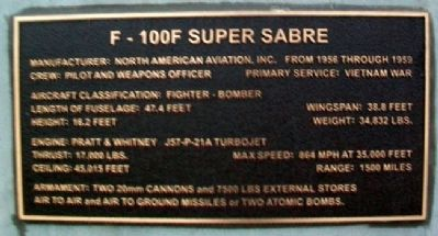 F-100F Super Sabre Marker image. Click for full size.