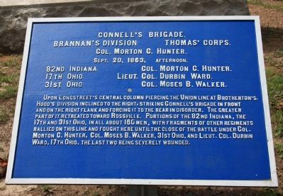Connell's Brigade Marker image. Click for full size.