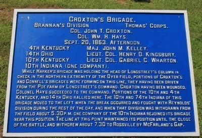 Croxton's Brigade Marker image. Click for full size.