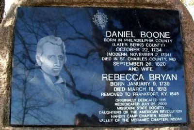 Daniel and Rebecca Bryan Boone Marker image. Click for full size.