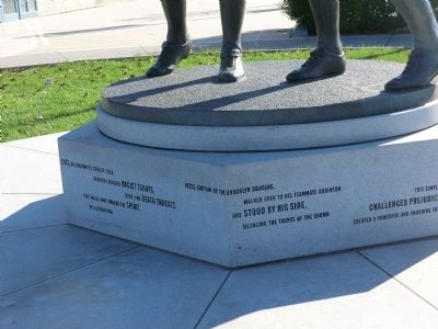 Jackie Robinson and Pee Wee Reese Monument Marker image. Click for full size.