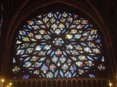 Sainte-Chapelle - The Rose image. Click for full size.