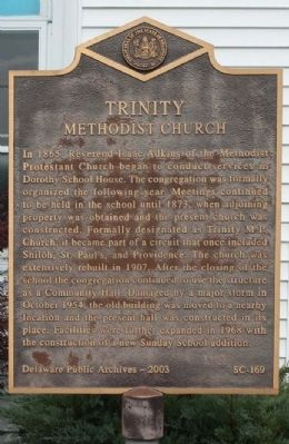 Trinity Methodist Church Marker Photo, Click for full size