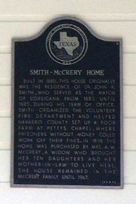 Smith-McCrery Home Marker image. Click for full size.