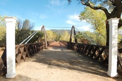 Bidwell Bar Suspension Bridge image. Click for full size.