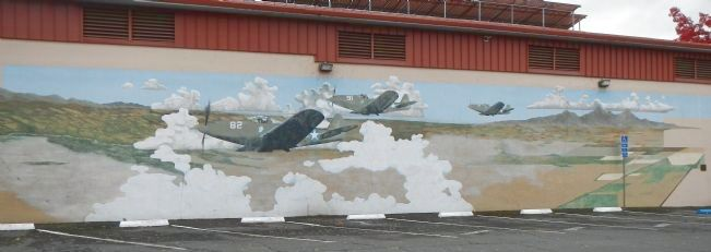WW II Training Base mural image. Click for full size.