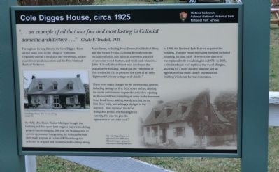 Cole Digges House, circa 1925 Marker image. Click for full size.
