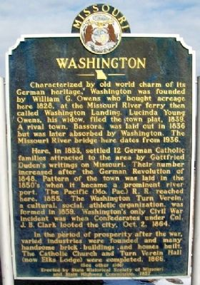 Washington Marker (Side A) Photo, Click for full size