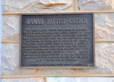 Ramah Baptist Church Marker image. Click for full size.