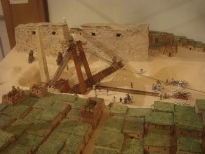 Diorama of how the obelisk was removed image. Click for full size.