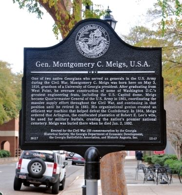 Gen. Montgomery C. Meigs, U.S.A. Marker image. Click for full size.