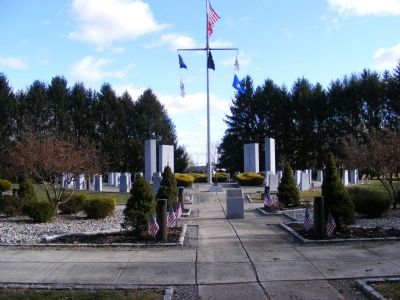 Mercer County Vietnam Veterans Memorial Marker Photo, Click for full size