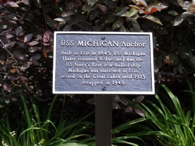 USS Michigan Anchor Marker Photo, Click for full size
