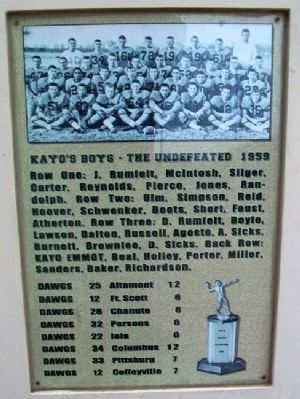Kayo's Boys 1959 Marker image. Click for full size.
