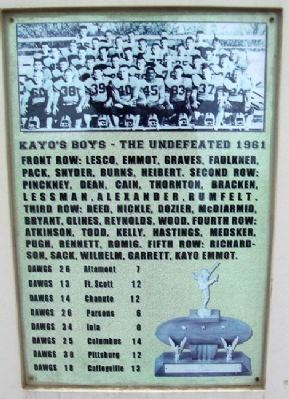 Kayo's Boys 1961 Marker image. Click for full size.