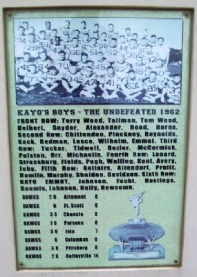 Kayo's Boys 1962 Marker image. Click for full size.