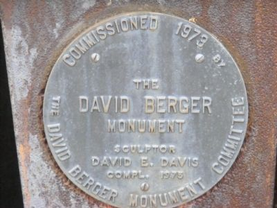 David Berger Memorial Marker Photo, Click for full size