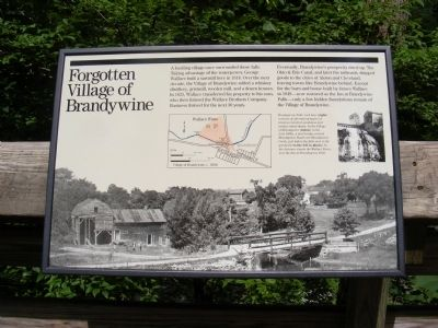 Forgotten Village of Brandywine Marker Photo, Click for full size