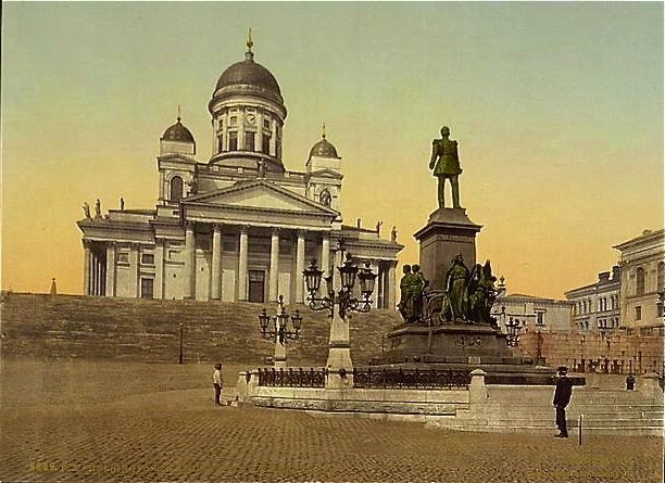 <i>Monument of Alexander II, Helsingfors, Russia, i.e., Helsinki, Finland</i> Photo, Click for full size