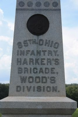 65th Ohio Infantry Marker image. Click for full size.