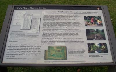 White House Kitchen Garden Marker image. Click for full size.